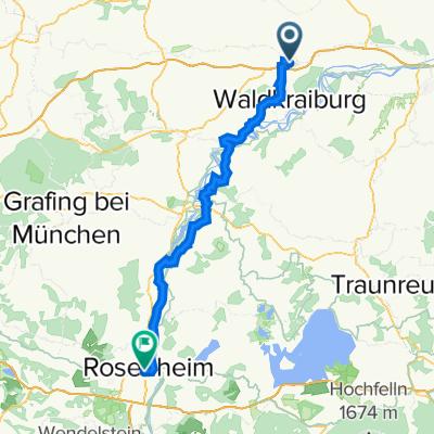 Rosenstraße 1c, Ampfing nach Rosenheim