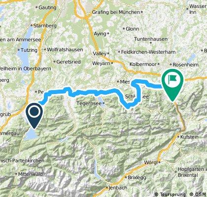 11-05-11 Bayern: Kochel am See-Benediktbeuren-Bad Tölz-Gmund a.Tegernsee-Schliersee-Neubeuern (Bodensee-Königssee-Radweg)