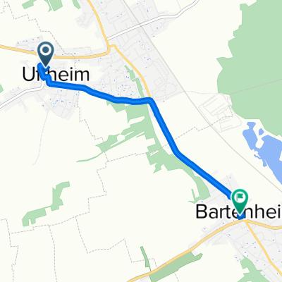 De 13 Rue du 20 Novembre, Uffheim à 5A Rue du Général de Gaulle, Bartenheim