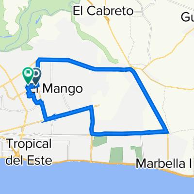 De Calle Amín Abel Hasbún 3, Santo Domingo Este a Calle Hermanas Mirabal 25, Santo Domingo Este