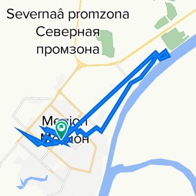 От улица Нефтяников 13с, Мегион до улица Нефтяников 19, Мегион