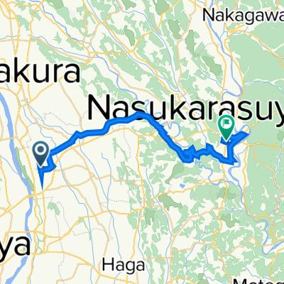 2384-31, Hoshakuji, Takanezawa, Shioya-Gun to Minami, Nasukarasuyama