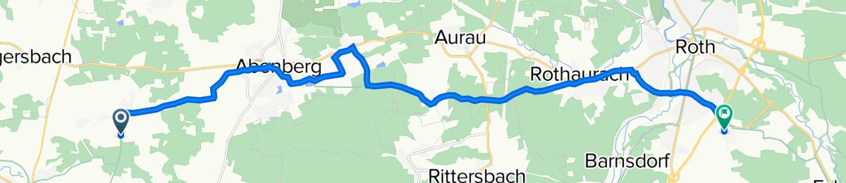 Dorfstraße, Abenberg nach Weiherweg 5, Roth