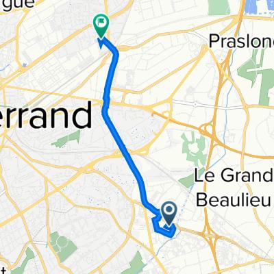 De 2 Avenue Michel-Ange, Clermont-Ferrand à 80 Rue du Ressort, Clermont-Ferrand