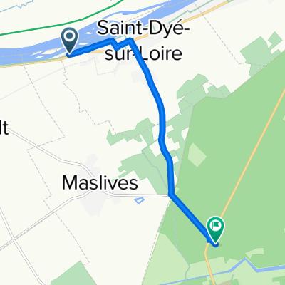 Route von Route de Blois, Saint-Dyé-sur-Loire