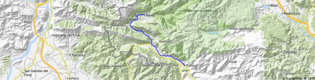 Tolmin to Bovec