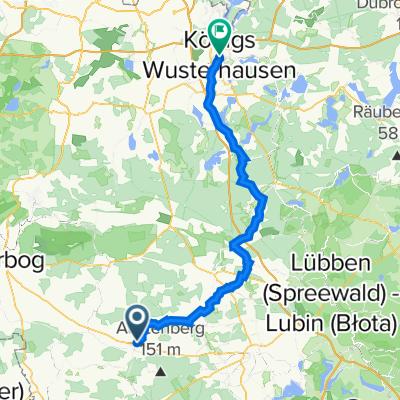 Dahme/Mark nach Königs Wusterhausen