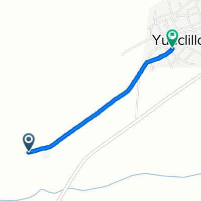 De Unnamed Road, Yunclillos a Calle General Mola 47, Yunclillos