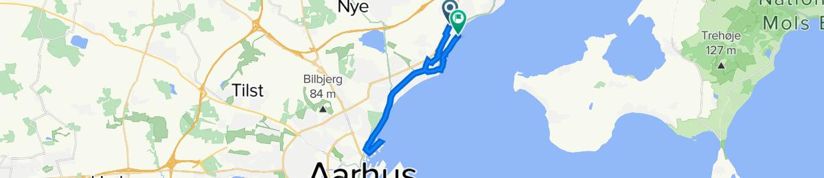 Stavneagervej 37, Egå do Ved Stranden 151, Egå