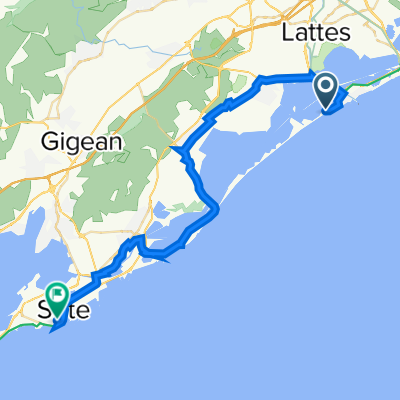 Route de Maguelone, Palavas-les-Flots nach Chemin du Phare 122, Sète