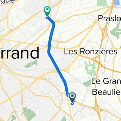 Itinéraire vers 50 Rue des Chandiots, Clermont-Ferrand
