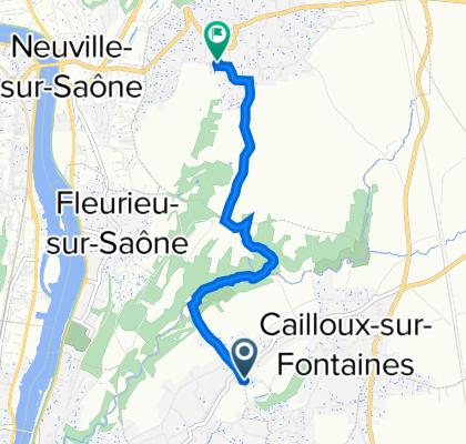 De 174 Chemin du Puits Pointu, Cailloux-sur-Fontaines à 68 Allée du Berfayet, Montanay