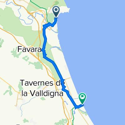 1. Von Cullera-Xeraco-Cullera 42 Km