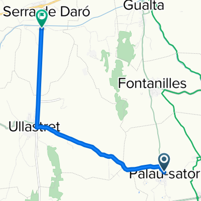 Carrer Extramurs, Sant Feliu, 15, Palau-sator to GI-644, Serra de Daró