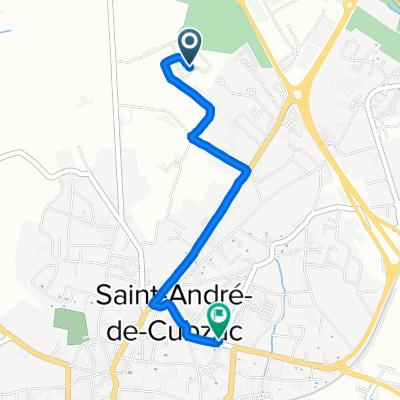 De 15 Rue Jean Lavidalie, Saint-André-de-Cubzac à 83 Rue Émile Dantagnan, Saint-André-de-Cubzac