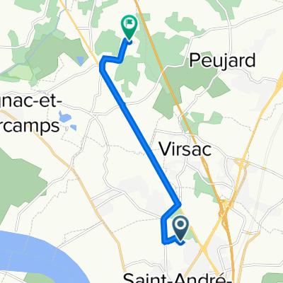 De 15 Rue Jean Lavidalie, Saint-André-de-Cubzac à 1 Rue de Canteloudette, Saint-Laurent-d'Arce