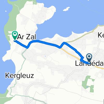 Itinéraire à partir de Route de Ploudiner 4, Landéda