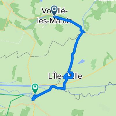 De 14 Rue du 8 Mai 1945, Vouillé-les-Marais à Rive Droite de la Sèvre, Marans
