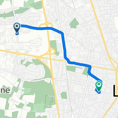 De Avenue René Laennec 20, Le Mans à Rue Armand Saffray 30, Le Mans