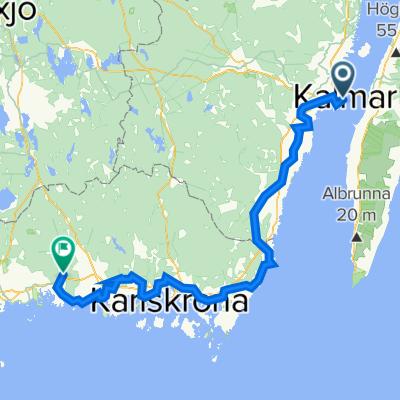 Kalmar til Bräkne-Hoby 170km