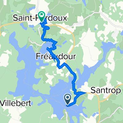 Itinéraire vers 17 Le Bourg, Saint-Pardoux