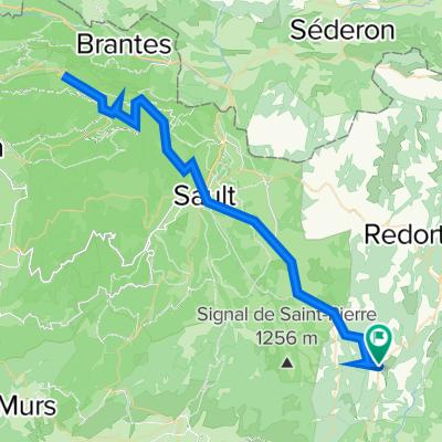 FR Simiane-la-Rotonde - Über Sault auf den Mont Ventoux