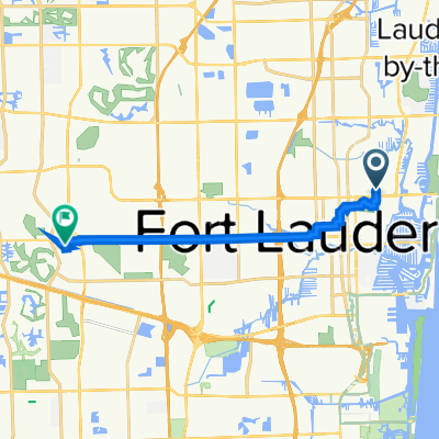 1101 NE 15th Ave, Fort Lauderdale to 8201 SW Third St, Plantation