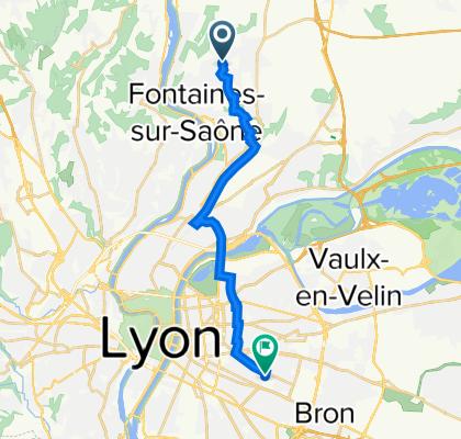 De 174 Chemin du Puits Pointu, Cailloux-sur-Fontaines à 17 Rue Roux-Soignat, Lyon