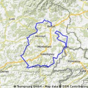 Tour Franche Comte: Etappe 1