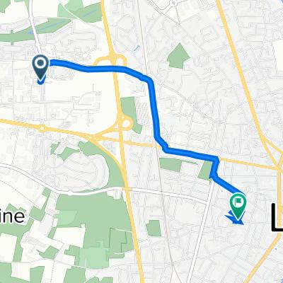 De Avenue René Laennec 20, Le Mans à Rue du Pavé 24, Le Mans