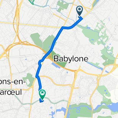 De Avenue du Général Leclerc 24B, Croix à Rue Devred 12, Villeneuve-d'Ascq