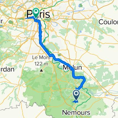 De Avenue Blaise de Montesquiou 16, Bourron-Marlotte à Avenue du Général Leclerc 17, Paris