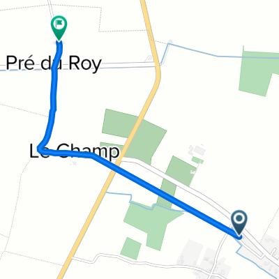 De D137, Saint-Genès-de-Blaye à Pré du Roy, Saint-Genès-de-Blaye