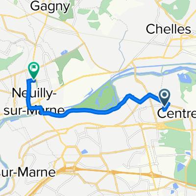 De 1 Allée Olivier Paulat, Champs-sur-Marne à 1–13 Rue des Romarins, Neuilly-sur-Marne