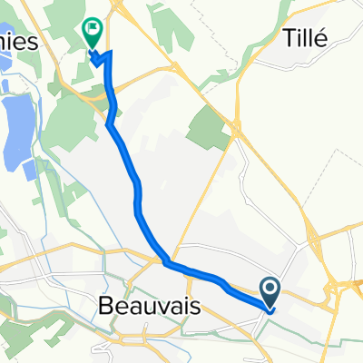 42 Rue Jean Jaurès, Beauvais to 19–37 Rue Pierre Waguet, Beauvais