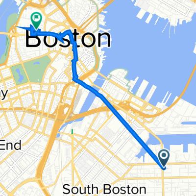852 Summer St, Boston to 161 Cambridge St, Boston