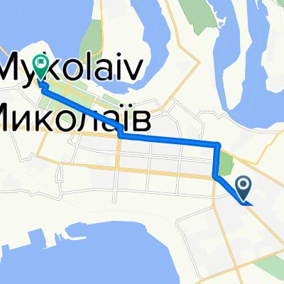 От проспект Миру 14, Миколаїв до вулиця Нікольська 11, Миколаїв