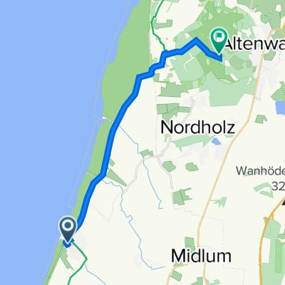 Lerchenweg 2, Wurster Nordseeküste nach Cuxhaven