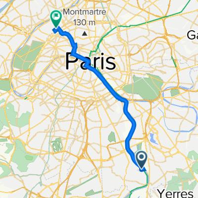 De 3B Avenue du Maréchal de Turenne, Villeneuve-le-Roi à 19 Rue de Lorraine, Levallois-Perret