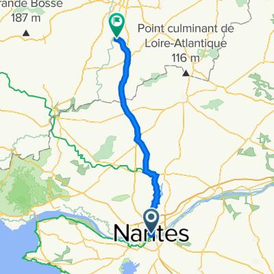 Nantes to Bourg de comptes