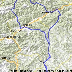 Mariazell Runde Pfaffensattel Lahnsattel Seeberg Pogusch Schanzsattel
