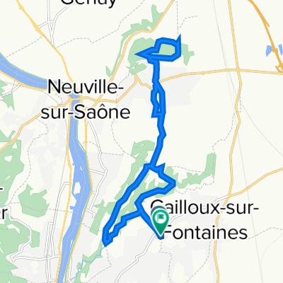 De 98 Chemin du Puits Pointu, Cailloux-sur-Fontaines à 174 Chemin du Puits Pointu, Cailloux-sur-Fontaines