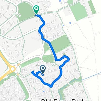 25 Lutyens Grove, Milton Keynes to Redway Wv03 Wavendon Gate, Wavendon Gate, Milton Keynes