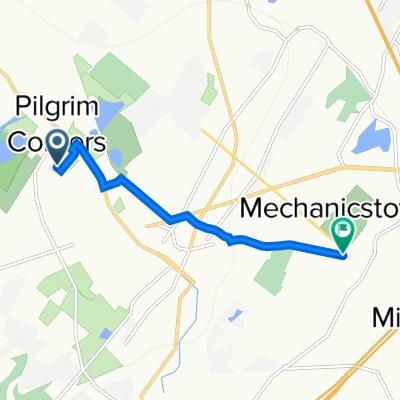 work bike route