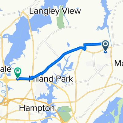 49–99 Rosser Dr, Hampton to 104 W Mercury Blvd, Hampton