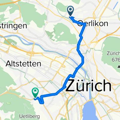 Binzmühlestrasse 308, Zürich nach Paul-Clairmont-Strasse 6, Zürich