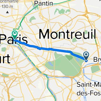 De 4bis Avenue de Joinville, Nogent-sur-Marne à 50 Rue de Rivoli, Paris