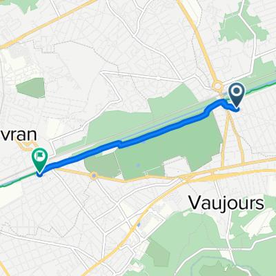 De 11 Avenue Louis Pasteur, Tremblay-en-France à 1bis Avenue Jean-Baptiste, Sevran
