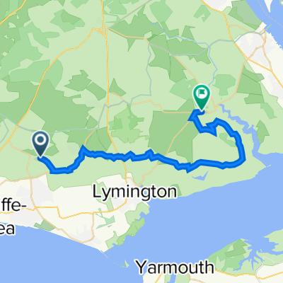 Tiptoe Road, New Milton to Hazel Copse Farm, Hatchet Lane, Brockenhurst