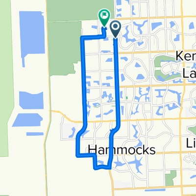 SW 157th Ave, Miami to 15981 SW 44th St, Miami